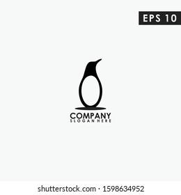 Penguin Logo Design. Penguin Logo Template. Modern Design. Flat Logo. Vector Illustration