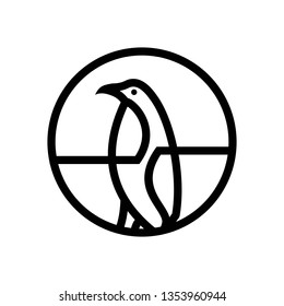 penguin logo template