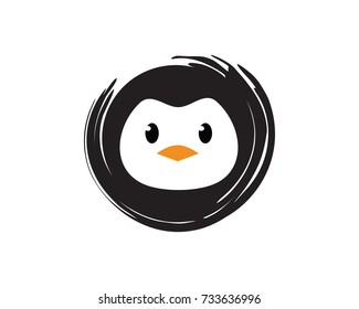 Penguin Logo Template Design Vector, Emblem, Design Concept, Creative Symbol, Icon