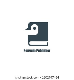 Penguin Publisher Logo book and simple