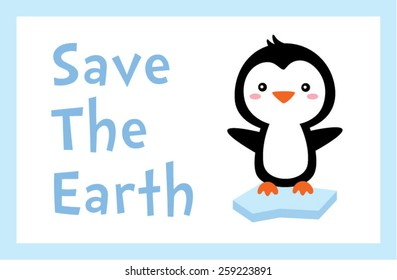 penguin save the earth poster