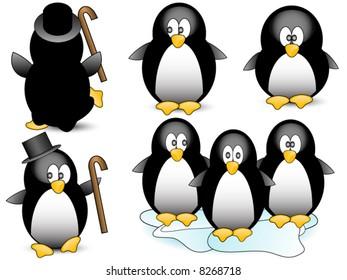 Penguin vector.