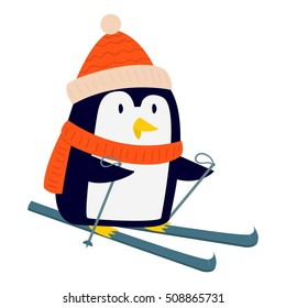 Penguin vector illustration character