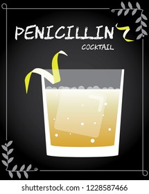 Penicillin cocktail vector with lemon twist.
