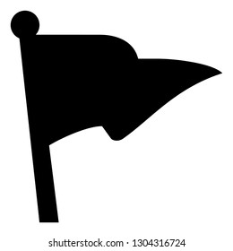 Pennant Flag Vector Icon