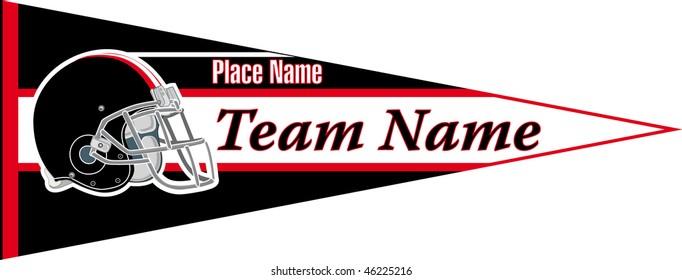pennant Football team Black