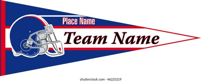 pennant Football team Blue