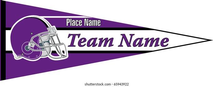 pennant Football team violet