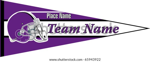 Pennant Football Team Violet Stock Vector (Royalty Free
