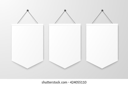 Pennant hanging, poster mockup