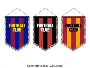 Pennant for soccer, football, basketball, baseball teams