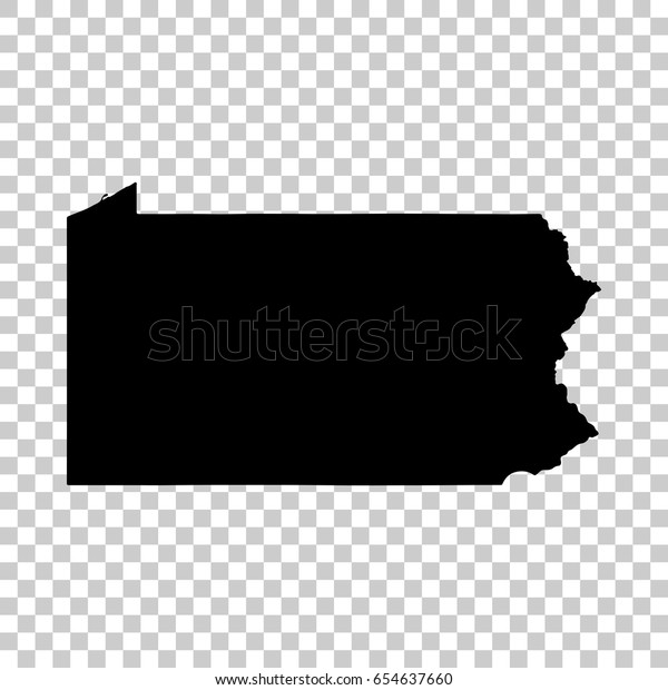 Pennsylvania Map Isolated On Transparent Background Stock Vector Royalty Free 654637660
