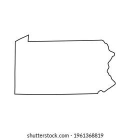 Pennsylvania map on white background