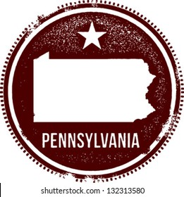 Pennsylvania USA State Stamp