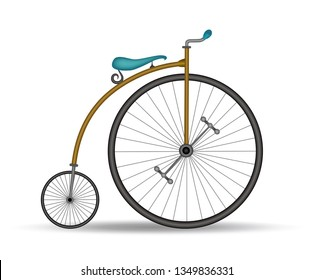 Penny farthing bicycle - French invention from the 1800s