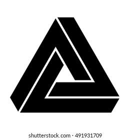 Penrose triangle, vector illustration