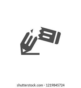Pensil Ikon Vektor. template.eps grafis abstrak