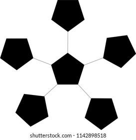 Pentagram Geometric Design