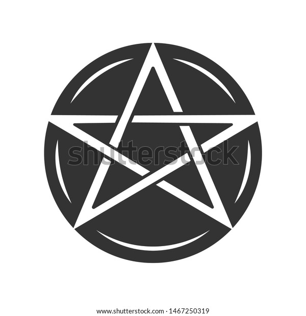 Pentagram Glyph Icon Occult Ritual Pentacle Stock Vector Royalty Free 1467250319