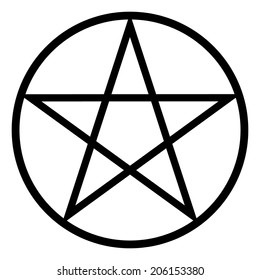 Pentagram icon on white background. Vector illustration.