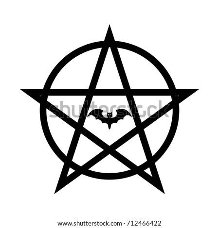Pentagram Satan Vector Black Icon On Stock Vector Royalty Free