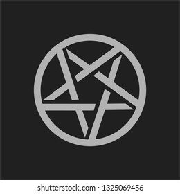 pentagram satanic symbol vector illustration