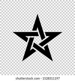 pentagram star icon. celtic star knot design illustration