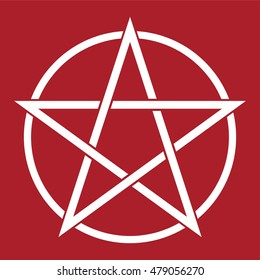 Pentagram symbol . Vector illustration