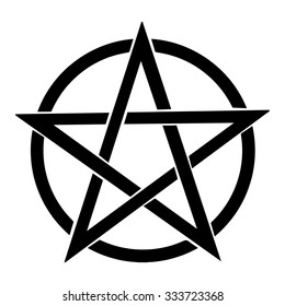 Pentagram vector icon. Isolated vector Illustration. Black on White background. EPS Illustration.