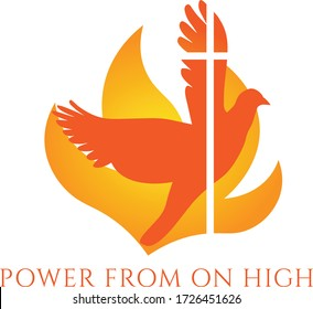 Pentecost Sunday Special, Typography for print or use as poster, card, flyer or T Shirt