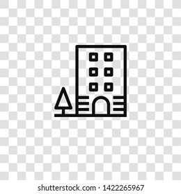 penthouse icon from BUILDING ARCHITECTURE collection for mobile concept and web apps icon. Transparent outline, thin line penthouse icon for website design and mobile, app development
