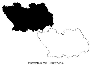 Penza Oblast (Russia, Subjects of the Russian Federation, Oblasts of Russia) map vector illustration, scribble sketch Penza Oblast map