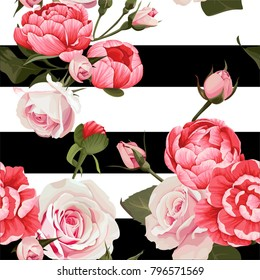 Stripe With Floral Pattern Images Stock Photos Vectors Shutterstock