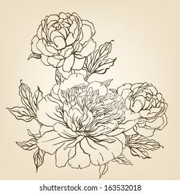 Pencil Drawing Flower Images Stock Photos Vectors Shutterstock