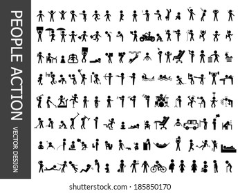 people action icons