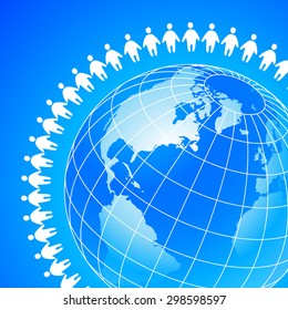 People Around Earth Template Concept Global Stock Vector (2018 ...