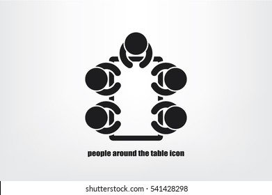 people around the table icon vector illustration eps10