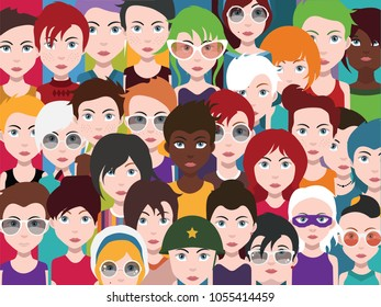 People avatars Set Of Diverse People Avatar Icons
