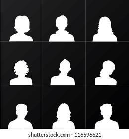 People Avatars,Vector