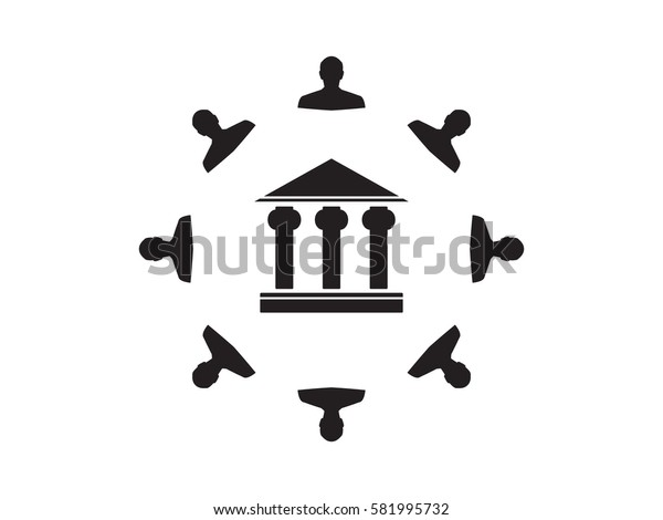 people, bank, icon, vector illustration eps10