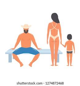 Nudist family beach