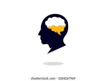 People Brain Logo Design Template, Element Design, Vector Design