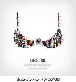 people brassiere lingerie vector