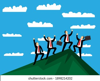 People Business Growth Illustrations and Vectors file.