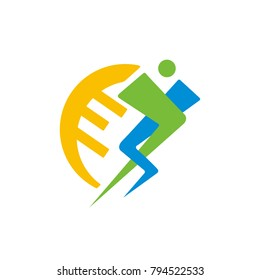 people care healthy  logo illustration vector