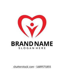 People care logo design template