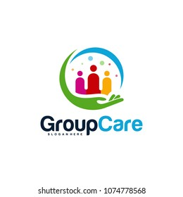 People Care logo designs concept, Group Care logo symbol vector