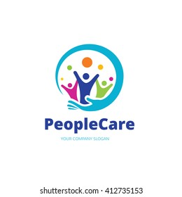 People Care Logo Template