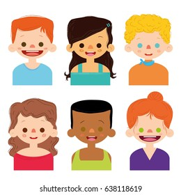 People Cartoon Set Character Vector