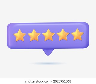 People Characters Giving Five Star Feedback. Vector customer review concepts. Reviews stars with good and bad rate and text. 3D Web Vector Illustrations. Customer service. Feedback, stars rating 3D
